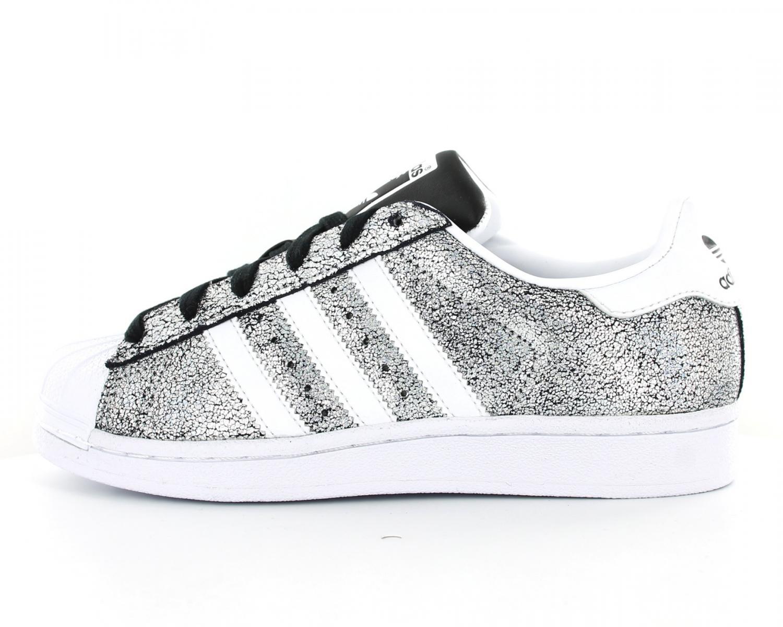 magasin en ligne 6b568 3ed00 adidas superstar femme argent et blanc