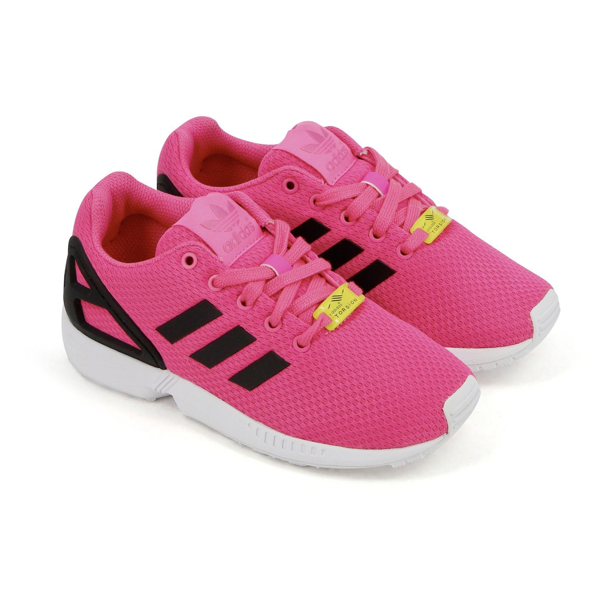 sélection premium 5889e 12873 adidas zx flux rose fluo femme