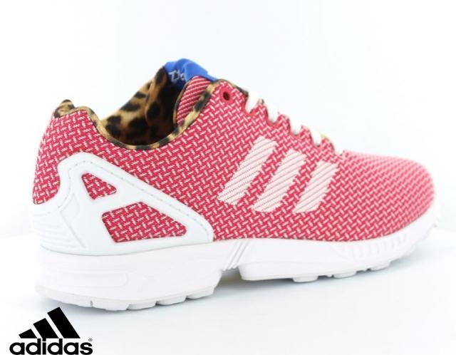 sélection premium 130b5 81b2d adidas zx flux rose fluo femme