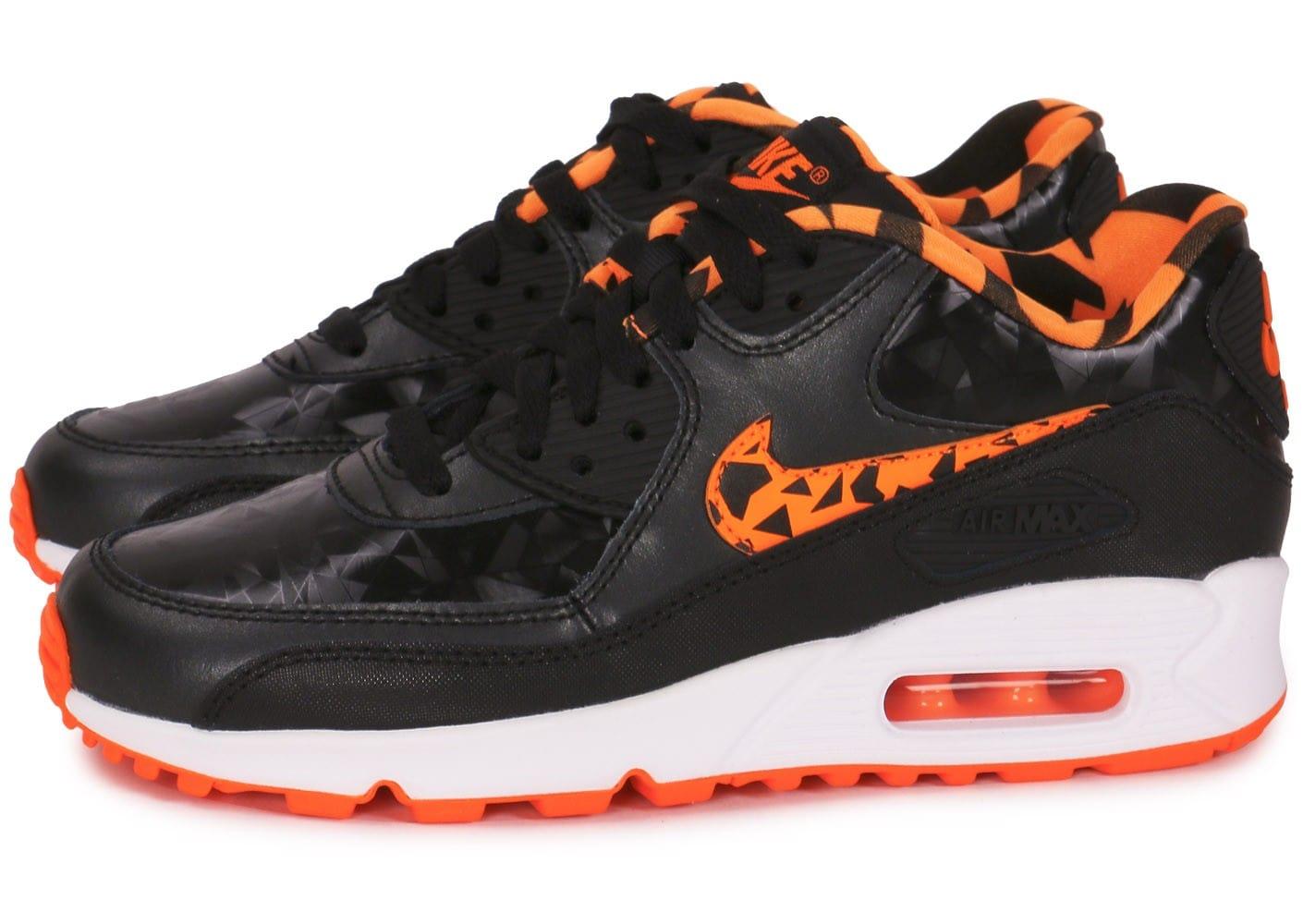 wholesale dealer 43992 90921 Valeur Nike Air Max 90 Femme Noir Chaussures De Gymnastique LAVO1881 nike  wmns air max 90,nike air max 90 noir et orange - s4