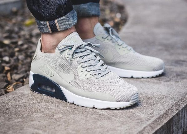 nike air max 90 flyknit blanc hommes