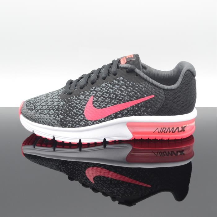 huge discount 17323 95c5f Chaussure Running Nike Air Max Sequent 2 Femme Taille( Eu 35.5-44.5) Grise    Mangue Clair   Orange   Nike Air Max Sequent 2 - Gris Rose   Femmes  Chaussures ...