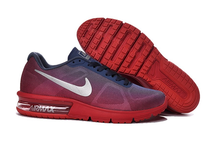 outlet store b15f4 b9cdf Chaussures Nike Air Max Sequent Rouge Homme en Stock - Acheter Des Basket  Nike Homme Rouge .