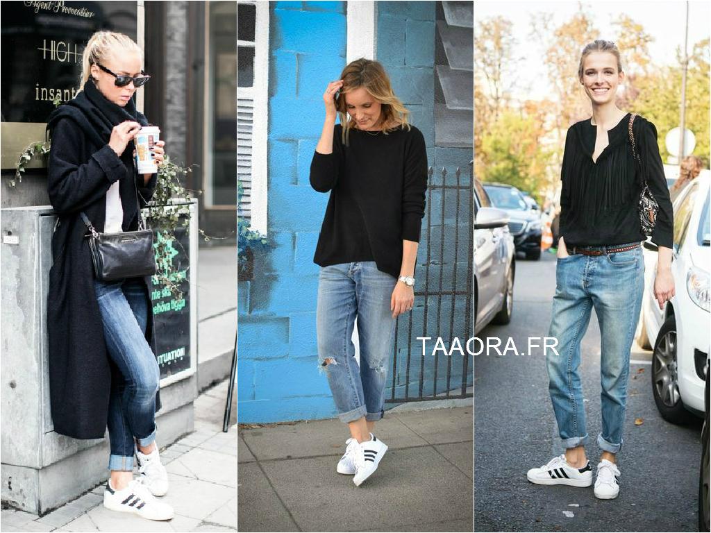 quality design f349b 2abc7 basket adidas femme en jean