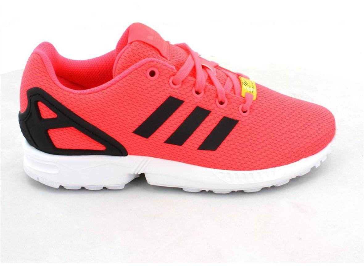 design intemporel b82e6 bc363 basket adidas zx flux rose fluo